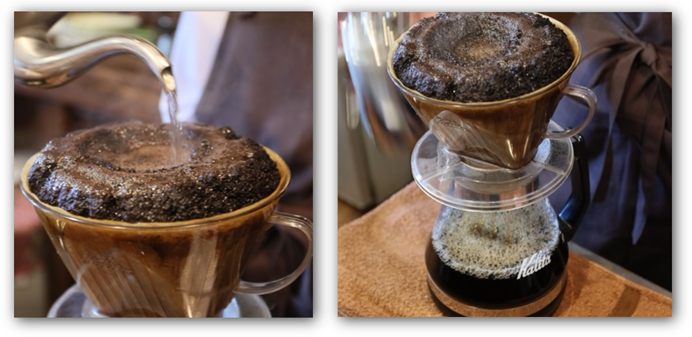 アイスコーヒー10杯分抽出中