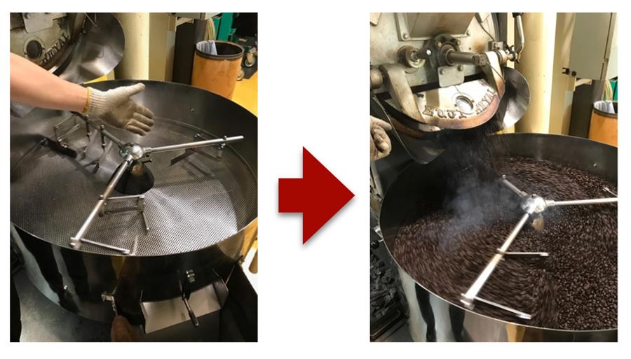 萩原珈琲の炭火焙煎の完成