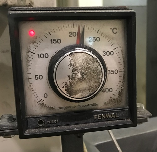 萩原珈琲神戸工場の焙煎窯の温度は230℃