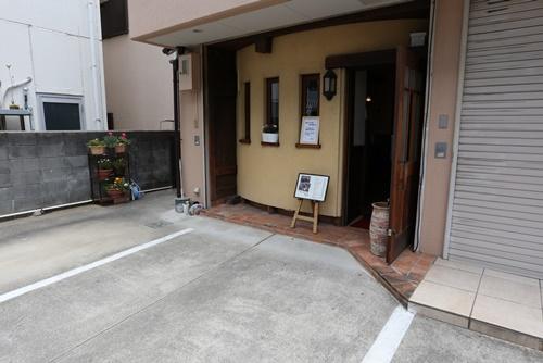 珈琲花の玄関
