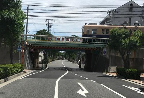 阪神電車の鉄橋
