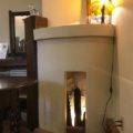 喫茶店の暖炉