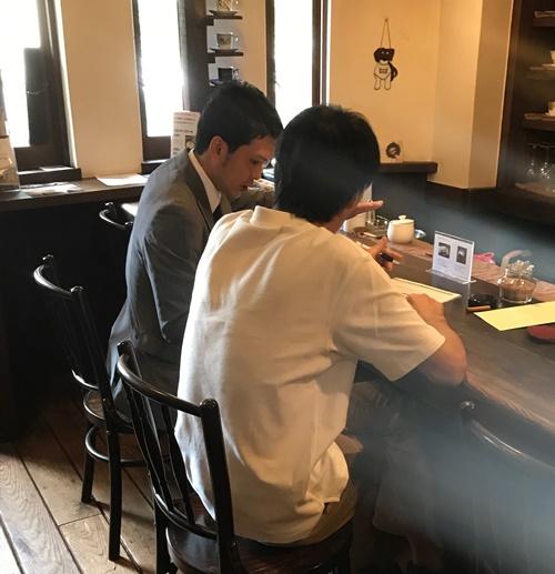 芦屋の喫茶店、珈琲花にて