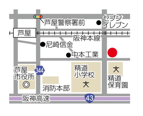 珈琲花への地図